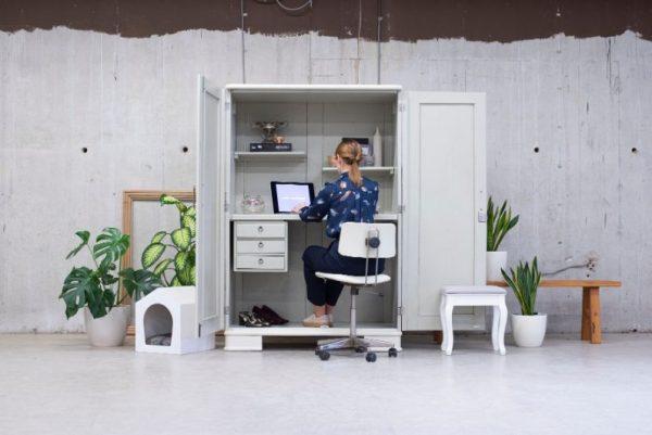 Vintage CAMOUFLAGE pisarna v omari